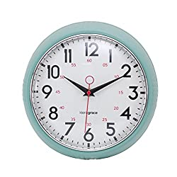 kieragrace Retro wall-clocks, 9.5, Green