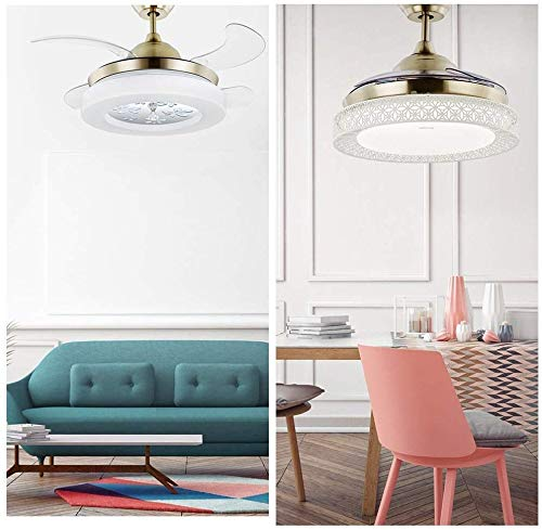 Nomina Timing Moderna Plafondlamp met onzichtbare structuur en lemmet met minimalistisch metri, stille quadri-camera, motor, kunststof lamp + plafondlamp incl.