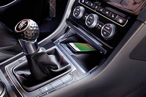 Wireless Charging Ladematte für Volkswagen Golf 7 (VII) ab 2012 – Induktives Laden mit Qi-Zertifizierung im VW mit INBAY - Einfacher Einbau mit Plug & Play Kabelsatz - Made in Germany