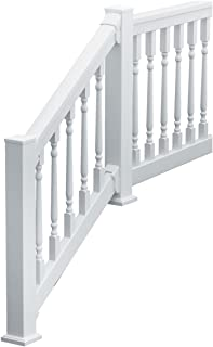 Fypon 741236CLDF QuickRail Straight Kit with Colonial Spindles and 3 1/8