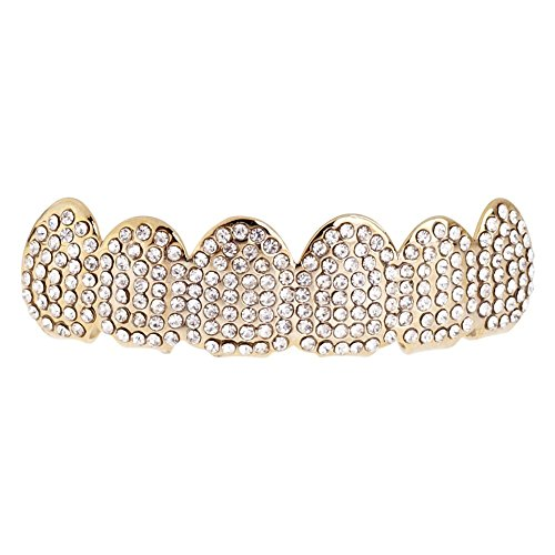 Iced Out One Size Fits All Bling Grillz TOP - Gold