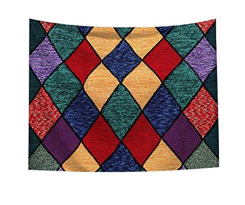 Boyouth Tapiz para Colgar en la Pared, diseño geométrico, Colorido patrón de geometrías, impresión Digital, decoración del hogar, Mural, Toalla de Playa