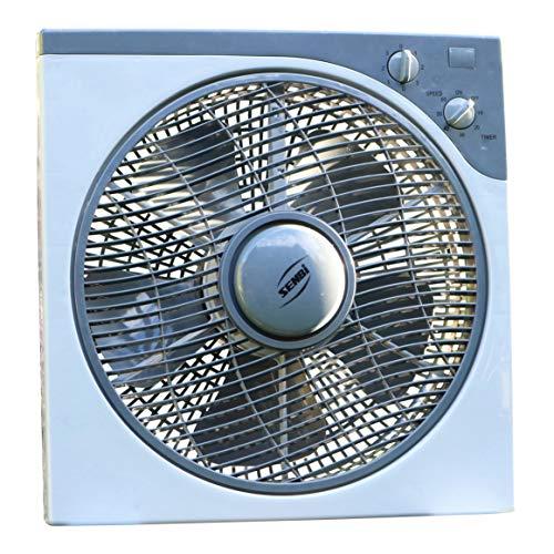 PK Green Ventilador 12V CC para Energía Solar, Caravana, Invernadero, Coche, Casa, Exterior, Camping, Barco, Camper, Autocaravana | Ventilador DC 12V Portátil Exterior | 39 x 38 cm