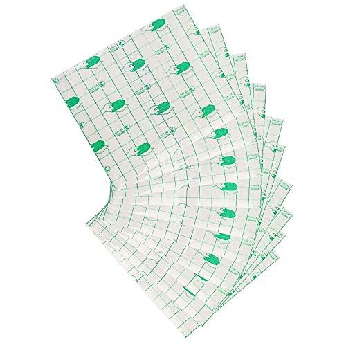 50 Stück wasserdichtes transparentes Klebeband für Wundverband, Pflaster, Stretch, Tattoo, Aftercare-Bandage (10 x 12 cm)