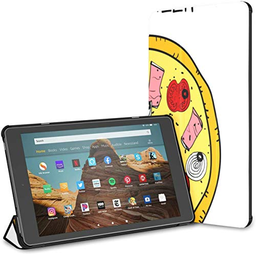 Estuche para Tableta Fire HD 10 de Pizza Caliente y Sabrosa (9.a / 7.a generación, versión 2019/2017) Fundas para Estuche Kindle HD Fire 10 Fire HD 10 Auto Wake/Sleep para Tableta de 10.1