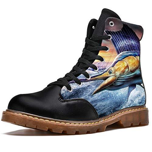 Bennigiry Sailfish Jumping Botas de Invierno Zapatos clásicos de...