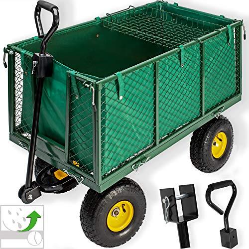 KESSER® Bollerwagen 550kg belastbar Gartenwagen Transportwagen...