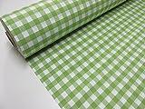 Confección Saymi Metraje 2,45 MTS Tejido Vichy Ref. Cuba Cuadro Medio 15x15 mm. Color Verde Kiwi, con Ancho 2,80 MTS.