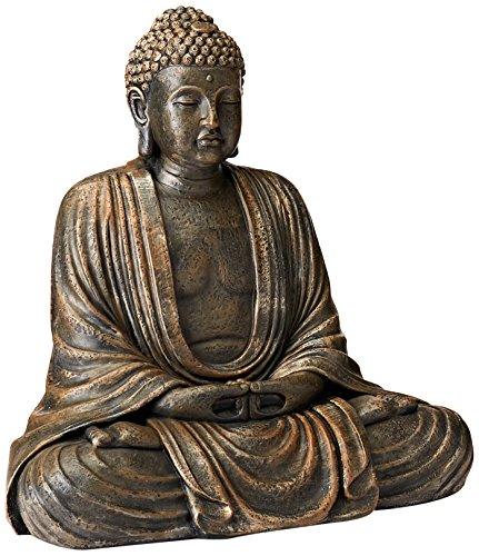 Oriental Furniture 2 1/2 ft. Tall Japanese Sitting Buddha Statue