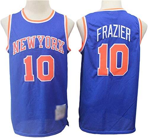 Baloncesto para Hombre Retro NBA New York Knicks # 10 Walter Fraser Jersey, Fans De Baloncesto Edición Malla Sin Mangas Transpirable Cuello Redondo Camisa,Azul,M(170~175cm)