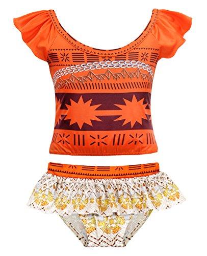 AmzBarley Moana Mädchen Badeanzug Kinder Bademode Bikini Swimsuit Set Badebekleidung Zwei Tankini