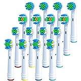 redtron ricambi spazzolini elettrici oral b, 16 pezzi testine di ricambio per spazzolino elettrico compatibile con oral-b braun precision, floss, cross e whitening