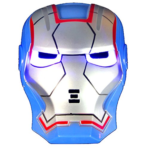 DNA Comics Costume Superhero LED Light Eye Mask (Blue Iron Man)