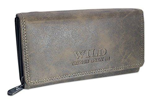 Grote portemonnee voor dames | portemonnee met muntvak creditcardvakjes ID-vakken Fotovakken | portemonnee voor vrouwen XL (11024)