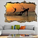 Kiteboarding Extreme Sports Wall Art Stickers Mural Decal Vinyl Poster Decor FC4