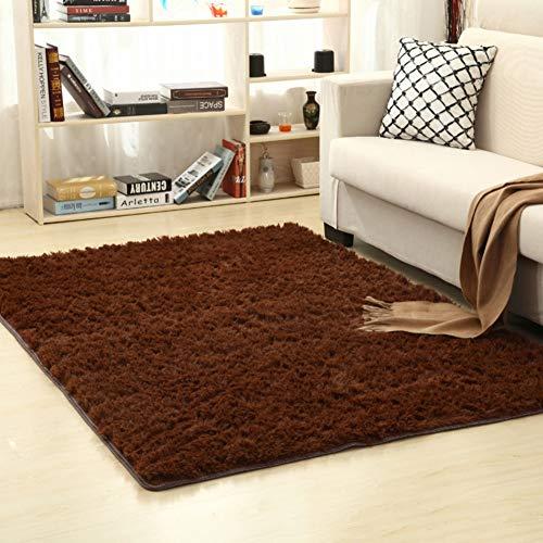 Flauschiger Teppich Rutschfeste Teppiche Teppich Rutschfester Teppich Hochfloriger weicher Teppich für Wohnzimmer Schlafzimmer Bodenmatte