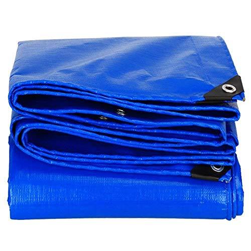 WZHTARPAULIN groot dekzeil waterdicht blauw canvas Poncho waterdichte picknick Mat Truck luifel 160G/M2 multi-size optioneel
