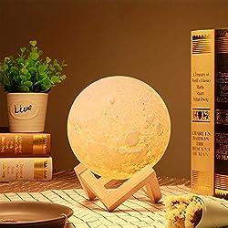 LED Mond Lampe, PAREIKO 16 RGB Helligkeit Led Nachtlicht Stimmungslicht Dimmbare Touch Lampe für Wohnzimmer, Geschenk für Kinder und Liebhaber [Energieklasse A++]