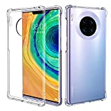 MoKo Compatible with Huawei Mate 30 Pro Case, Crystal Clear