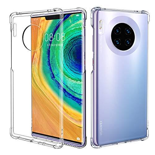 MoKo Compatibile con Cover Huawei Mate 30 PRO, Anti Scivolo & Graffi Case TPU Silicone Crystal Clear Cover Custodia per Huawei Mate 30 PRO - Transparente