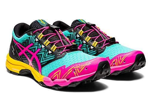 ASICS Women's Gel-Fujitrabuco Sky Running Shoes, 5.5M, SEA Glass/Pink GLO