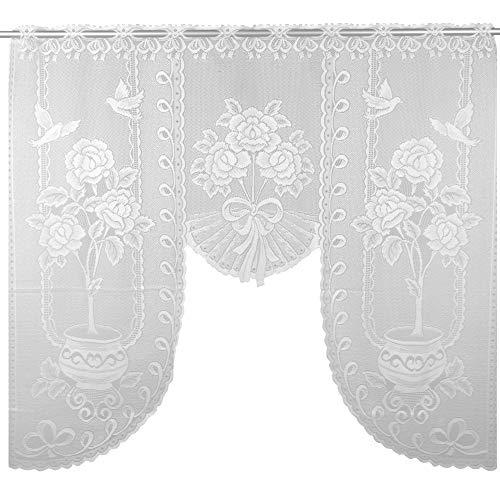 Arsvita Bogengardine 120x105 cm (BxL) in weiß - Design: Sarah