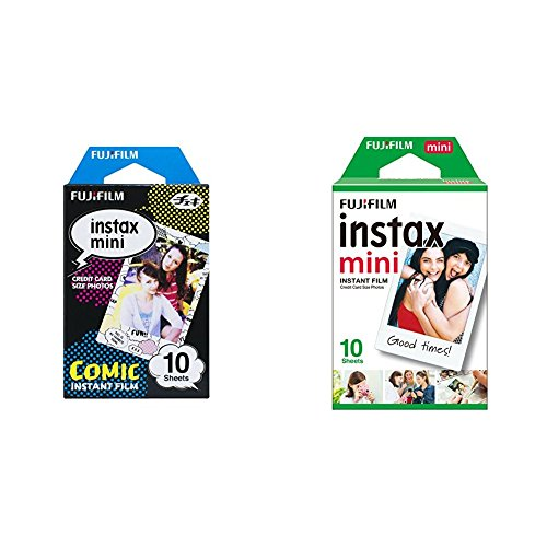 Fujifilm Instax Mini Monopack de 10 Films pour développement Instantané Comic + 1x10 Films