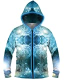 Electric Styles Light up Hoodies (Large, Spaced Out, Blue)