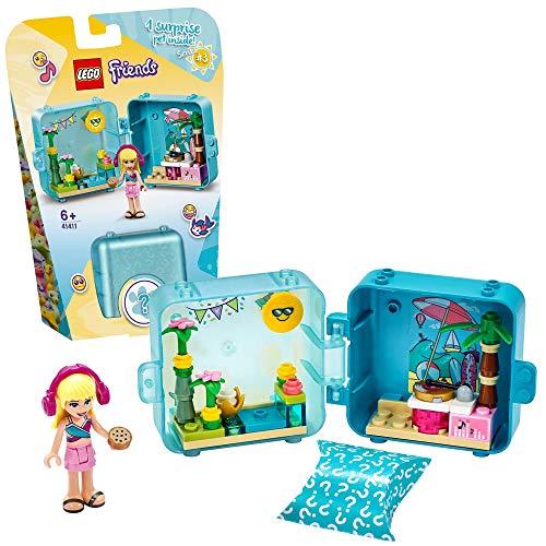 LEGO 41411 Friends Stephanies magischer Sommer-Würfel, Strandparty, Bauset, Sammler-Mini-Set Reisespielzeug