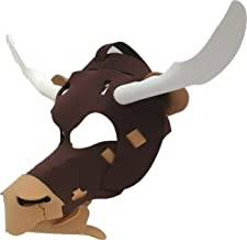Bull Mask - Light, Comfortable, and Adjustable to any Size - Brown