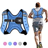 Henkelion Weighted Vest Weight Vest for Men Women Kids Weights Included, Body Weight Vests Adjustable for Running, Training Workout, Jogging, Walking - Blue - 12 Lbs