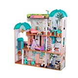 KidKraft 65986 Camila Wooden Dolls House with Funiture and Dollhouse Accessories Included, Suitable for 12 Inch Dolls