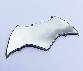 Fan Emblems Batman Logo 3D Car Emblem Chrome, Batman v Superman: Dawn of Justice BvS Automotive Sticker Decal Badge Flexes to Fully Adhere to Cars, Motorcycles, Laptops, Windows, Almost Anything