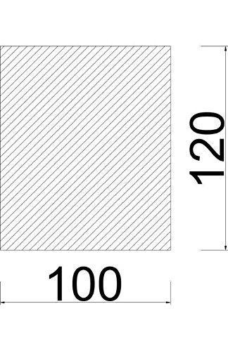 Bodenplatte Stahl grau Rechteck Kaminofen/Holzofen Hitzebeständig einbrennlackiert Senotherm