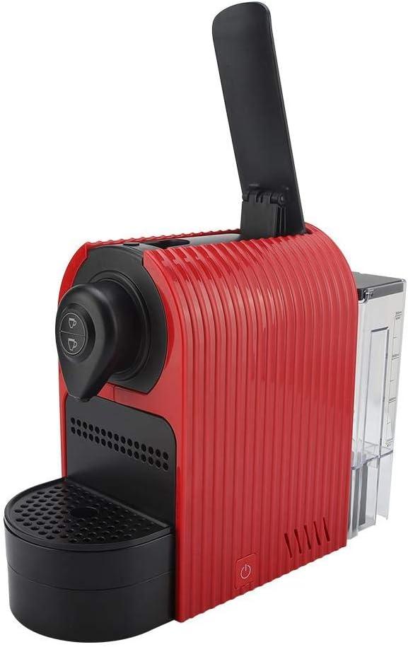 keyren Machine à café, Machine à café à Capsules Nespresso, Machine à Expresso, pour café café(Black (European Standard 220-240v)) Red (Us 110-120v)