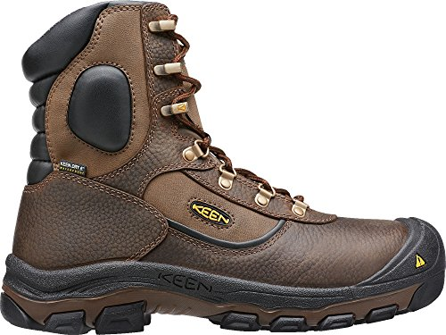 Keen Utility - Men's Leavenworth (Steel Toe) 400G Insulated Waterproof Work Boot, Cascade Brown, 7 EE
