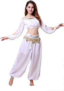 long sleeve belly dance tops