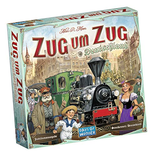 Asmodee Zug um Zug Deutschland, Grundspiel, Familienspiel, Deutsch