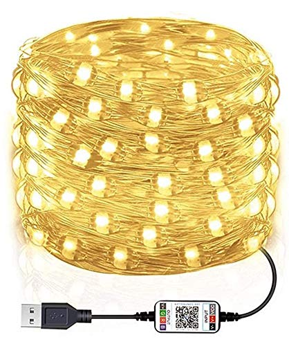 CENT Tira de Luces LED 10M/20M Control de Bluetooth APP Impermeable Luces...