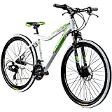 Galano Mountainbike 650B Hardtail Fahrrad MTB GX-27,5 Bike 27,5 Zoll 21 Gang (weiß/grün, 45 cm)