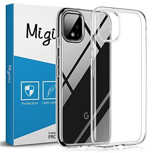 Migimi Google Pixel 4 Hülle, Handyhülle Google Pixel 4 Case Weich TPU Silikon Kristall Flexibel Ultra Dünn Anti-Scratch Schutzhülle für Google Pixel 4 Cover - Transparent