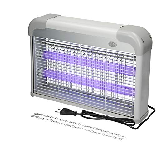 ECD Germany Lámpara de Insectos UV Eléctrica 2000-2200V Tensión de Red - 20W - 60 m² de Superficie Luz Ultravioleta Anti-Mosquitos Trampa Mata-Insectos Polillas Efectiva sin Productos Químicos Tóxicos