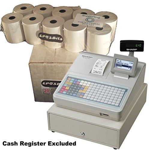 eposbits® Marke Rollen zu für Sharp xe-a217W xea-217W xea217W xea217xe-a217xea-217W Cash Register?20Rollen