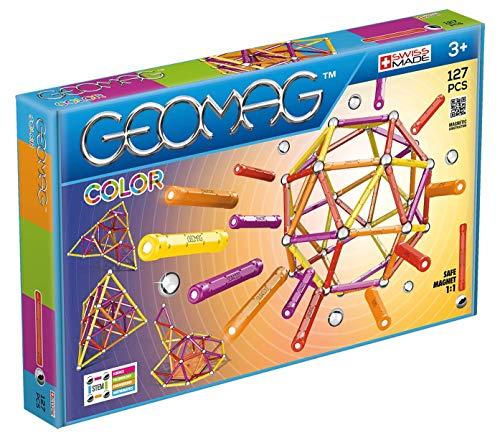 Geomag- Color Gioco di Costruzione con Sfere e Barrette, Multicolore, 127 Pezzi, PF.510.264.00