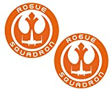 UR Impressions IOrn 3in. Rogue Squadron 2-Pack Decal Vinyl Sticker Graphics for Cars Trucks SUV Vans Walls Windows Laptop|Intense Orange|3 inch|URI533-IO