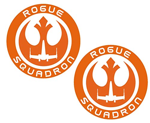 Impresiones UR 3 pulgadas. Rogue Squadron Paquete de 2 calcomanías de vinilo para coche, camión, SUV, furgoneta, pared, ventana, portátil, 3 pulgadas