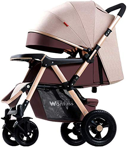 Purchase Baby carriage Hot Mom Pushchair Baby Stroller 2 in 1 Single Folding 4 Wheel with Rain Cover...