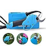 Gedme Tragbare Gartenschere Professionelle elektrische Gartenschere Eingebaute Lithium-Batterie 36V4ah zum Schneiden von 2,5 cm Durchmesser -