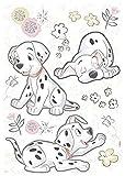 Komar Hochwertiger Deco-Sticker Best of Friends, Größe 50 x 70 cm (Breite x Höhe), 20 Teile, rückstandsfrei abzulösen und wiederaufklebbar, Made in Germany, Schwarz, Weiß, Rosa, 14055H