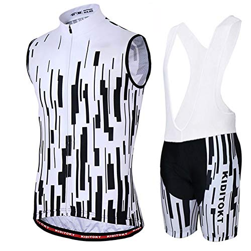 Hplights Ropa Ciclismo Chaleco Sin Mangas Maillots Ciclistas Hombre Mountain Bike/MTB Shirt,...